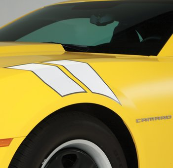 Camaro Decal/Stripe Package - Fender Hash Marks, Stripe - White Pearl