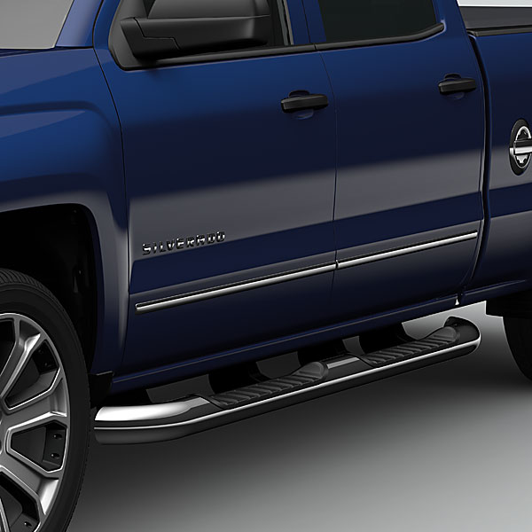 2014 Silverado 1500 Double Cab Assist Steps, 4 Inch Round