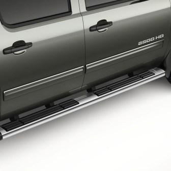 Crew Cab Assist Steps - 6 inch Oval, Chrome, 6.6L Diesel Only