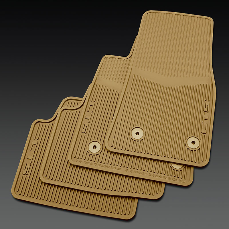 2014 CTS Sedan Floor Mats Front & Rear Premium All Weather, Cashmere