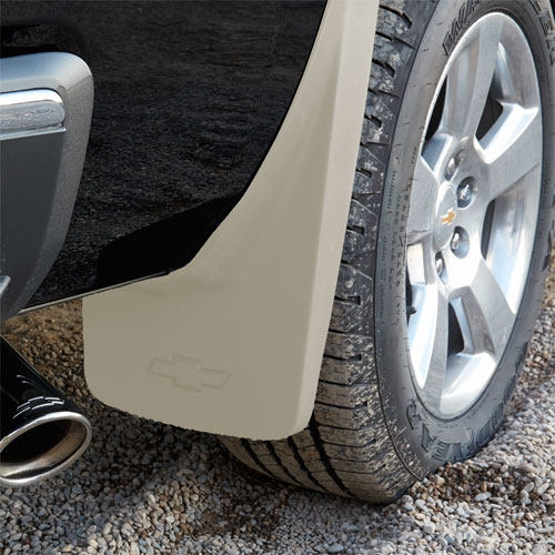 White Diamond Truck Color Code: 2014 Silverado 1500 Splash Guards, Rear Molded, White