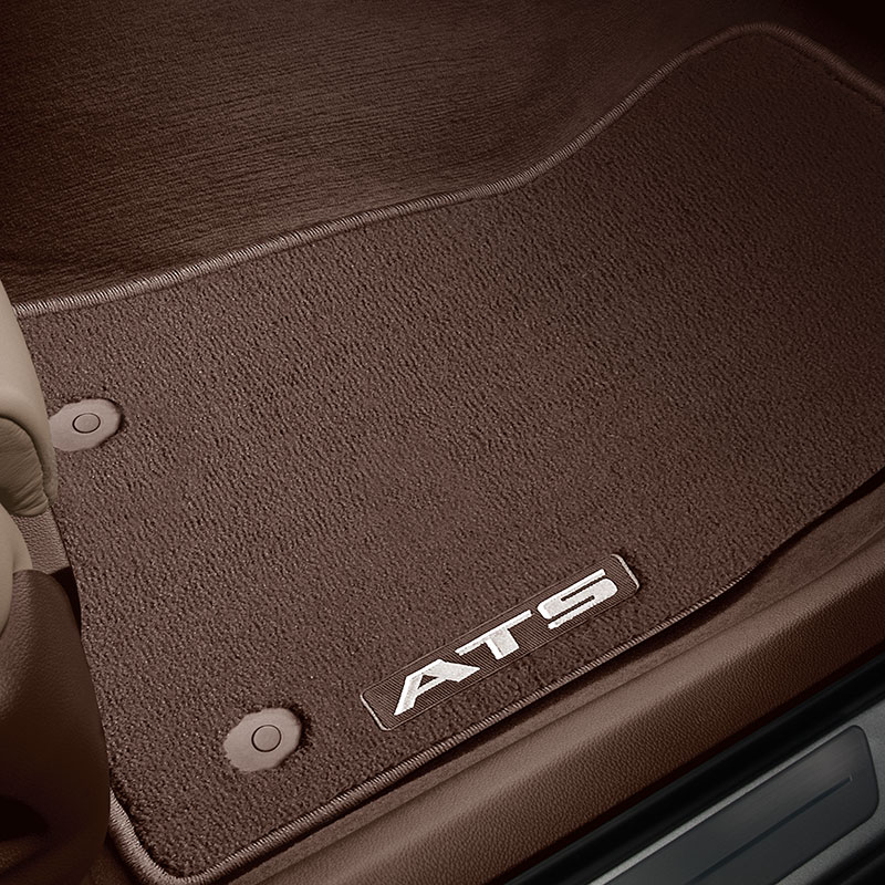 2018 ATS Coupe Floor Mats, Front & Rear Premium Carpet, Kona Brown