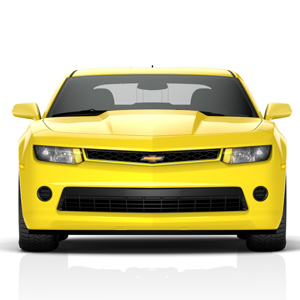 2014 THRU 2015 Camaro Upper Grill Insert, Bright Yellow - CLOSEOUT