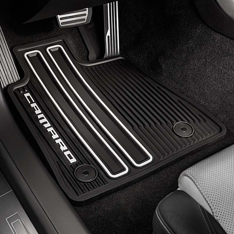 camaro floor mats premium all weather front u0026 rear black