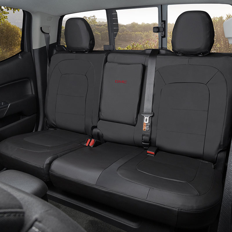 Wondrous 2016 Canyon Protective Rear Fitted Seat Cover In Black W Armrest Pabps2019 Chair Design Images Pabps2019Com