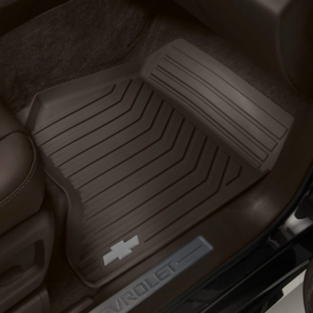 2015 Tahoe Floor Mats Premium All Weather Front Cocoa W