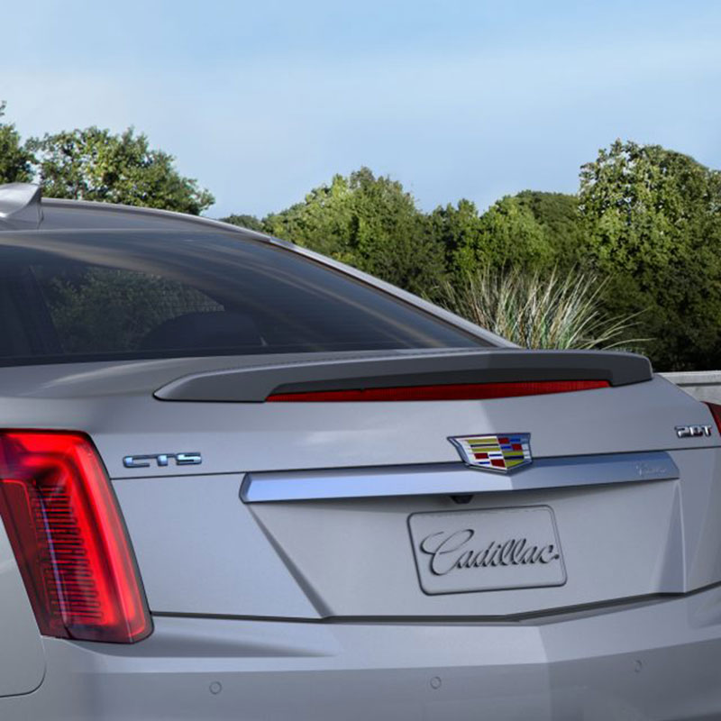 2018 Cadillac Cts V Exterior: 2018 CTS Sedan Rear Spoiler Kit, Radiant Silver Metallic