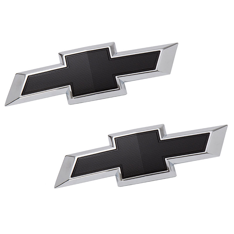 2019 Trax Bowtie Emblems, Black, Front And Rear