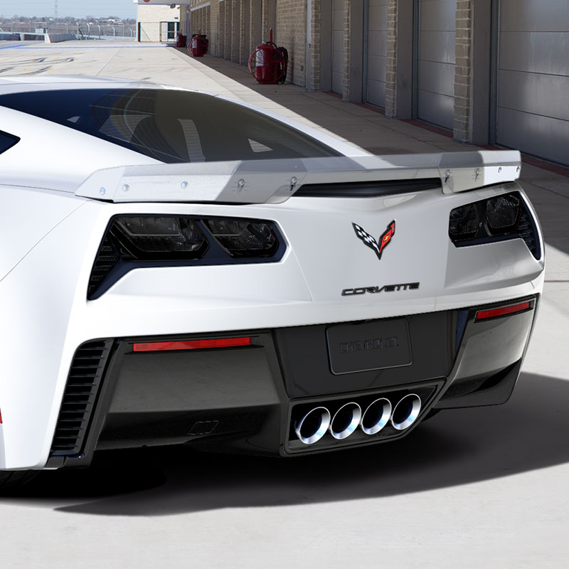 2018 Corvette Stingray Spoiler Kit, Z06-Style, Arctic White