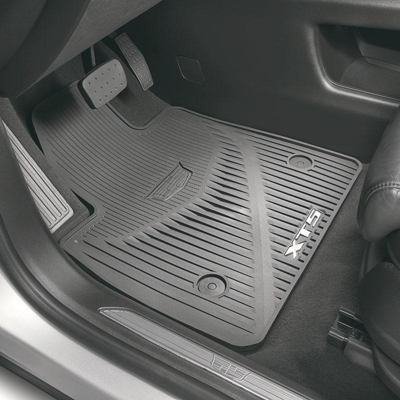 2017 Xt5 Floor Mats Dark Titanium Front And Rear Premium All Weather Xt5 Logo 84072386