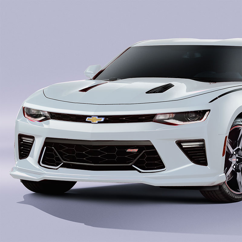 2018 Camaro Front Spoiler or Front Fascia Extension, Summit White, SS Models