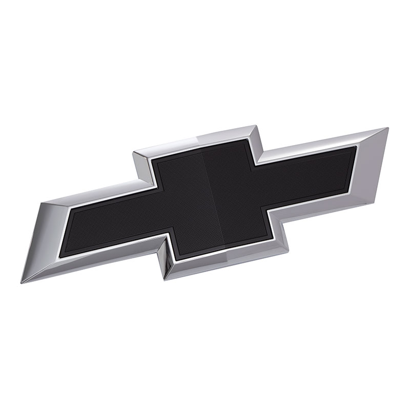 2019 Silverado 1500 Chevrolet Bowtie Emblem, Black, Grille, Chrome  Surround, Standard Size
