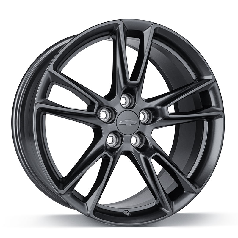 "2019 Camaro 20 inch Wheel, 5-Split-Spoke, Front or Rear, Satin Black, 8.5"" Width, LS, LT & SS Models"