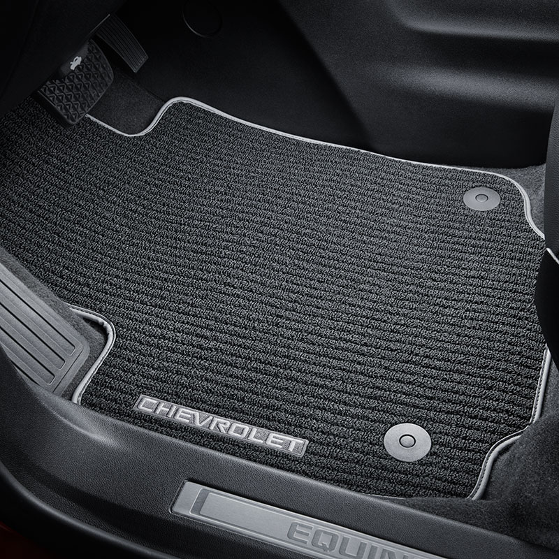 2019 Equinox Floor Mats, Black with Dark Ash Gray Bindin