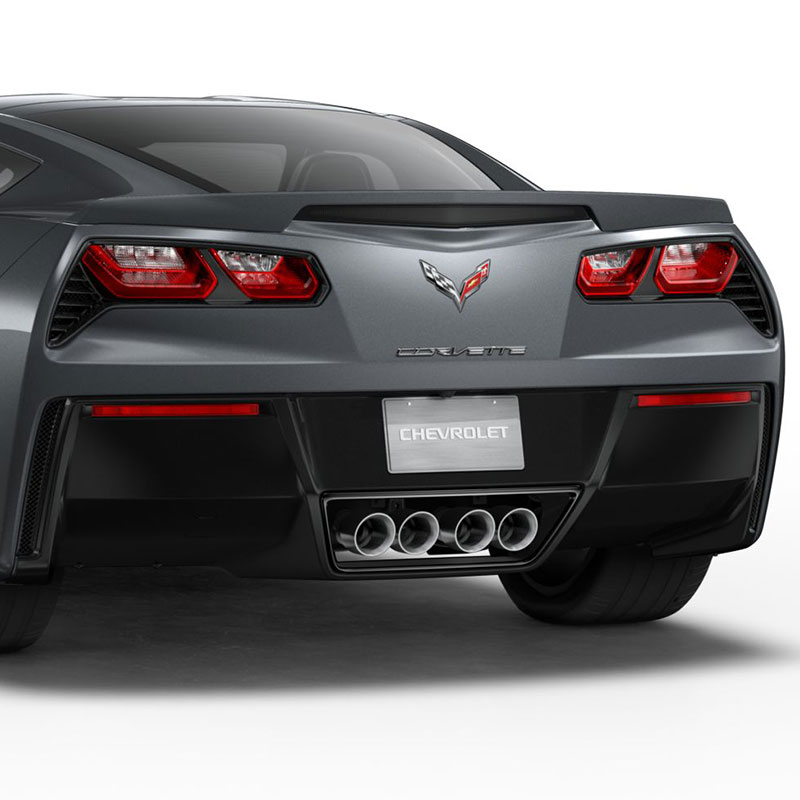 2019 Corvette Stingray Spoiler Kit, Z51 Design, Watkins Glen Gray Metallic