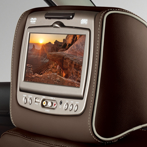 2018 Escalade Dual DVD Headrest System, Cocoa Vinyl with Shale Stitchi