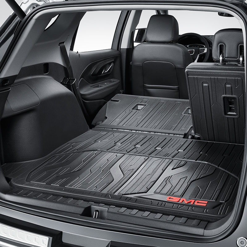 2018 Terrain Custom Molded Integrated Cargo Liner Jet Black With Red 84269449