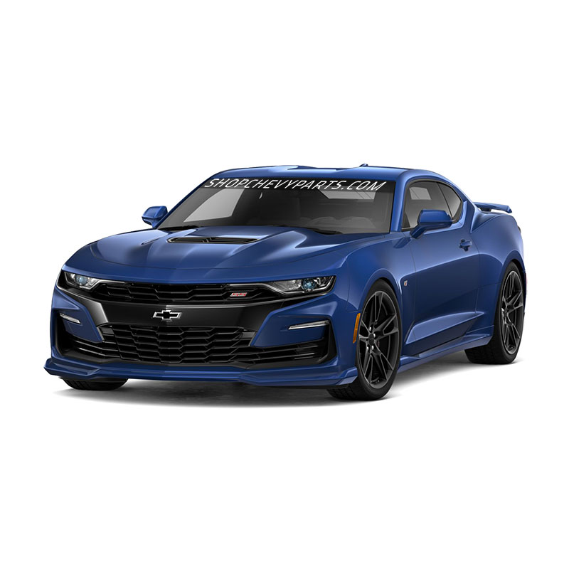 2019 Camaro Ground Effects, Riverside Blue Metallic, SS Models, Dual Mode Quad Tip Exhaust (NPP)