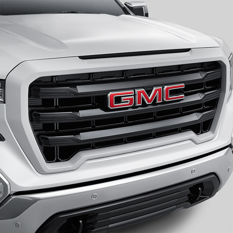 2020 Sierra 1500 Front Upper Grille, Summit White, Black Horizontal Grille Slats