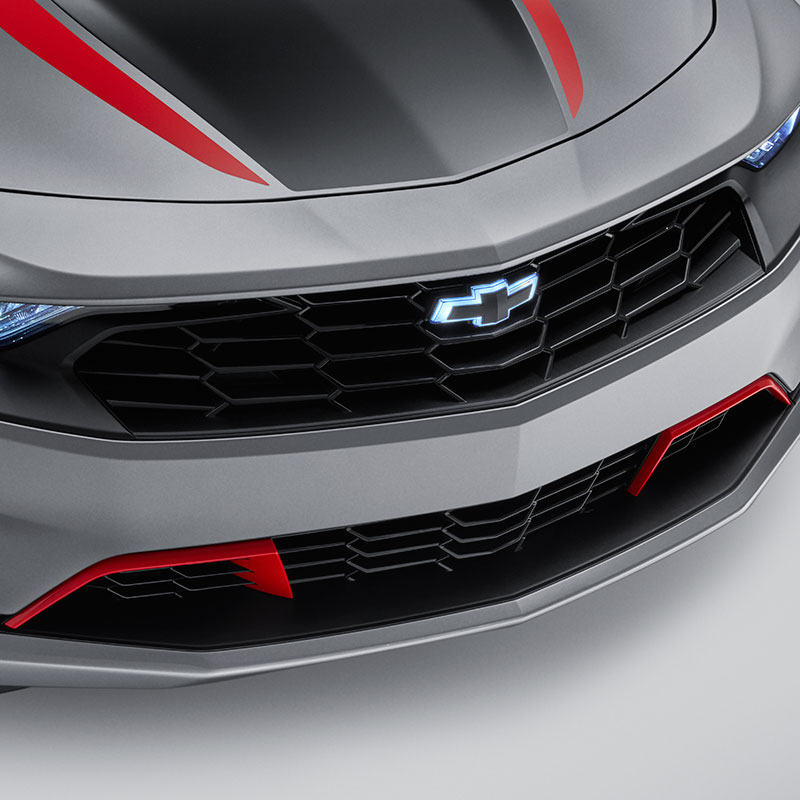 2019 Camaro Bowtie Emblems, Black, Illuminated, Front and Rear, LS and LT Models