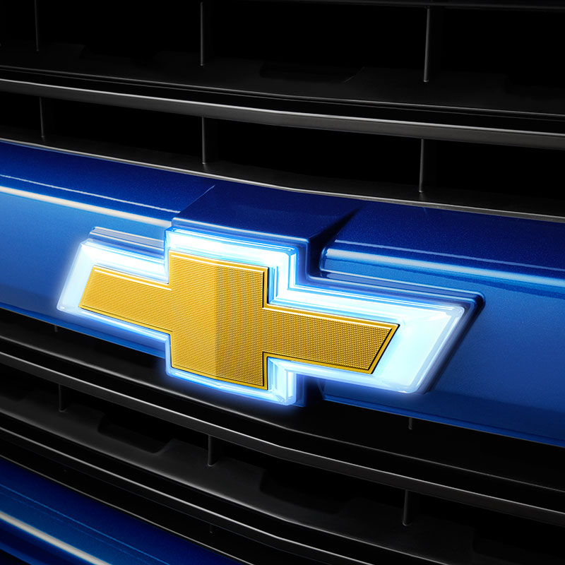 2019 Silverado 3500 Gold Bowtie Emblems, Illuminated, Front
