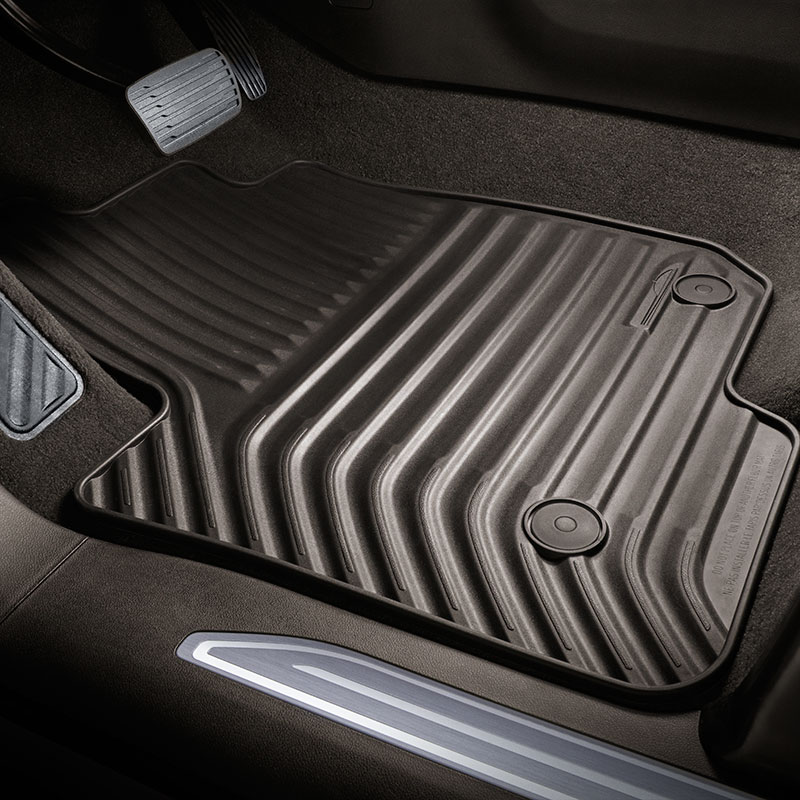 2019 Silverado 1500 Floor Mats, Atmosphere, Double Cab, Front and Rear Sets, All Weather