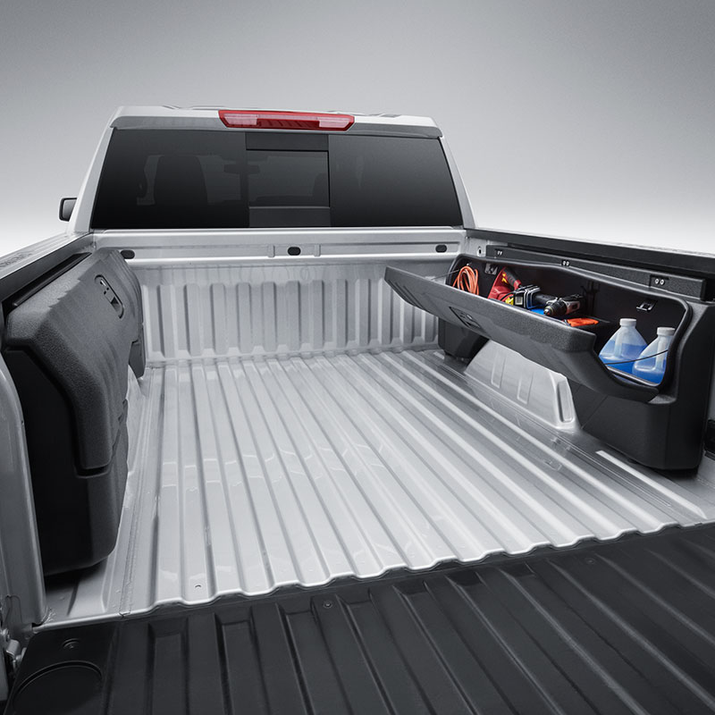 2019 Silverado 1500 Side Mounted Bed Storage Box Package, Short Box