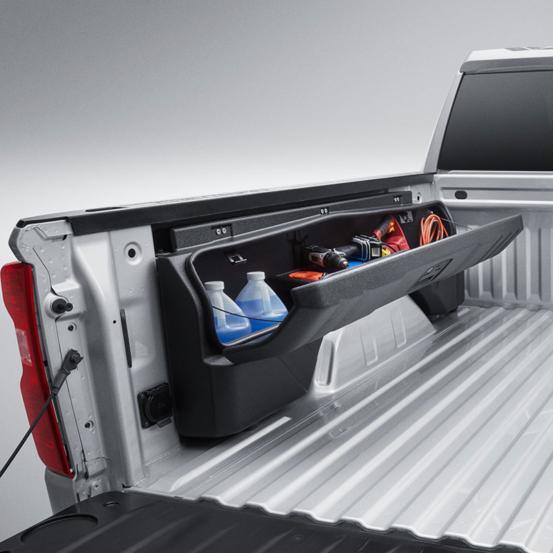 2019 Sierra 1500 Side Mounted Bed Storage Box, Driver Side, Short Box