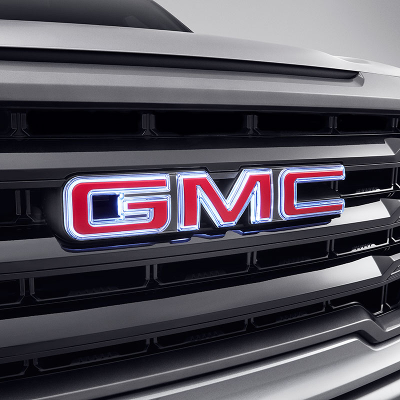 2021 Sierra 1500 Illuminated GMC Emblem, Red GMC Logo, Front Grille, Backlit