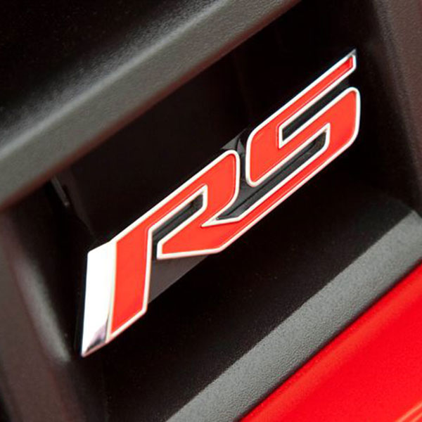 "2010 Camaro ""RS"" Emblem, Red, Front"