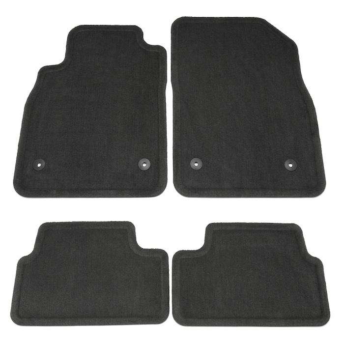 2012 Cruze Floor Mats - Molded Carpet, Jet Black