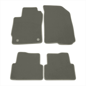 2012 Sonic Floor Mats - Front and Rear Molded Carpet Black with Dark T